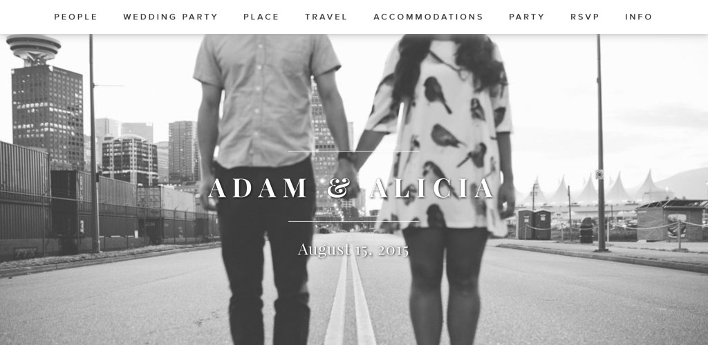 how to make the perfect wedding website alicia fashionista
