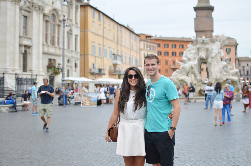 canadians honeymoon in italy, best of our italian honeymoon, must do in rome, piazza navona