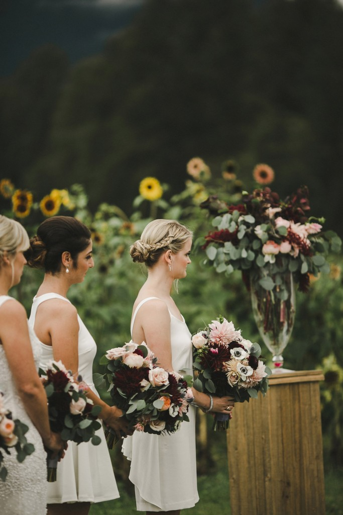 bridesmaid hair ideas, the flower factory vancouver, north arm farm wedding, pemberton bc, alicia fashionista