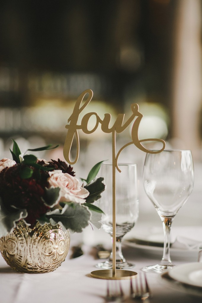gold table numbers, north arm farm wedding, pemberton wedding, alicia fashionista blog