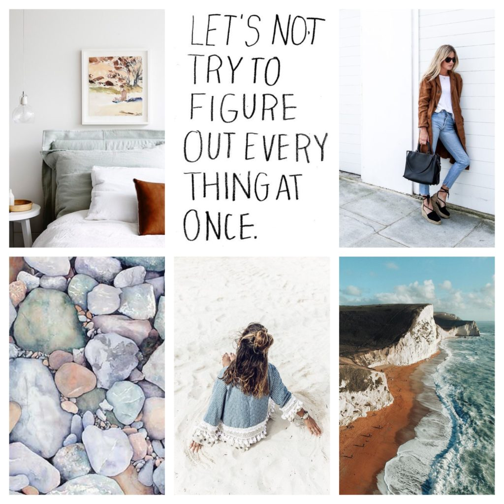 pinterest collage, earthy inspiration, cool tones for home decor, alicia fashionista, canadian lifestyle blog