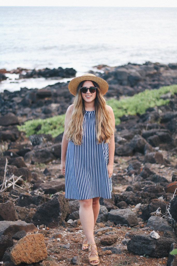 what to pack for hawaii, cheap summer dress, asos striped dress, alicia fashionsta, vancouver travel blog